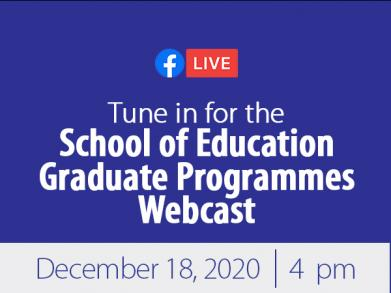 school of education webcast